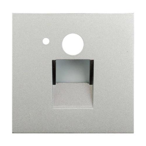 Arcchio Neru LED-inbyggnadslampa, kantig silver